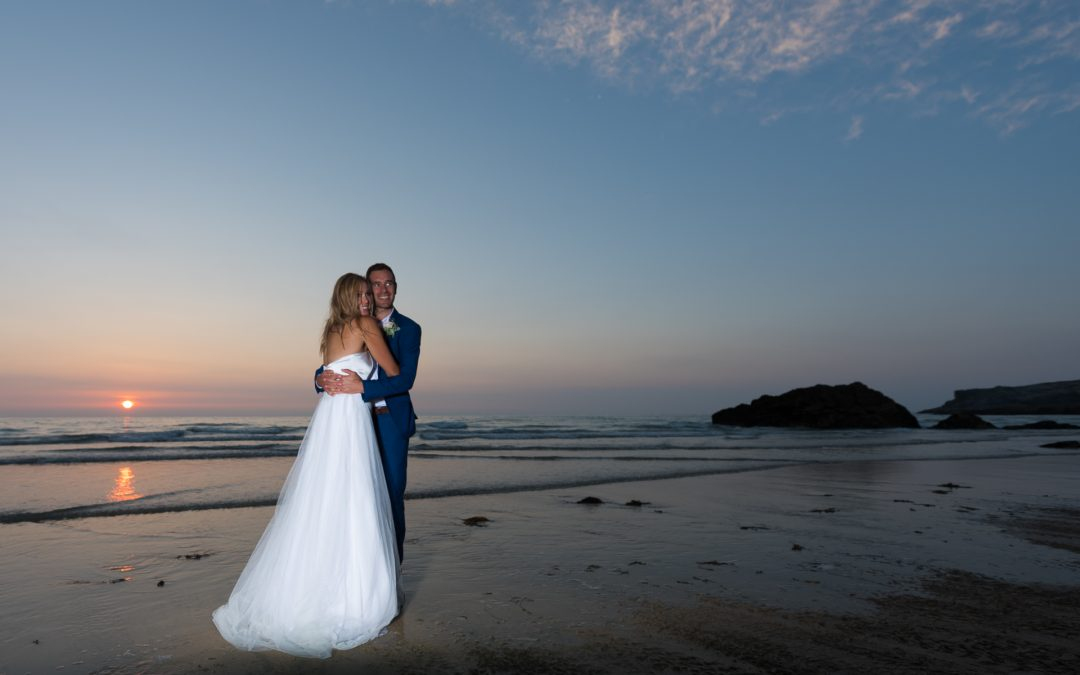 WEDDING PORTRAITS AT SUNSET